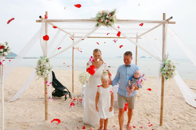 Koh samui marriages for East coast beach wedding locations